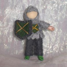 Bendy Knight by PNTdolls on Etsy Felt Crafts Diy, Sewing Crafts, Crafts For Boys, Gifts For Kids, Waldorf Crafts, Felt Fairy, Fairy Dolls, Felt Dolls, Diy Doll