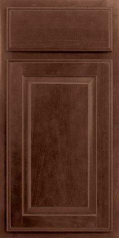 Merillat Classic Seneca Ridge cabinet door in Pecan stain on Maple wood.