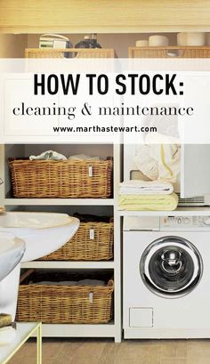 How to Stock: Cleaning & Maintenance | Martha Stewart Living - Cleanliness isn't merely a virtue in the busiest room in your house: A clean kitchen is essential to the health and safety of your family. To make the task of kitchen cleaning simple, corral your supplies in a bin or bucket stored in a cupboard under or near the sink. To protect the floor of the cupboard, line it with parchment paper or rubber matting that can be replaced or cleaned as necessary.