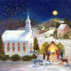 Christmas Nativity, Christmas Art, Christmas Ideas, Christmas Glitter, Christmas 2019, Vintage Christmas Cards, Retro Christmas, Vintage Cards, Christmas Dinner Pictures