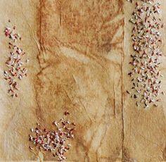 Broderie sur le sachet de thé à la main / Hand méditation cousu Sampler