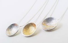 Silver and gold Keum boo domed pendants | Flickr - Photo Sharing!