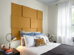 bed design with alluring simple diy headboard ideas flat headboard design feat white window curtain finish unique table lamp design idea in furniturebeds images