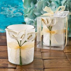Gold Calla Lily Design Votive Candle Holder #lily #candleholder #callalilly #gold #partyfavor