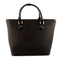 Elegancka torebka z matową fakturą z wysokiej jakości ekologicznej skóry z rączkami z lakierowanej eko skóry.   http://styloskop.pl/produkt/625,Dudlin_20260