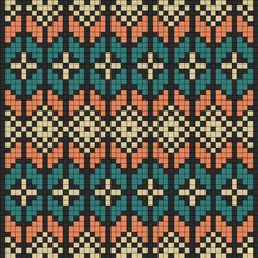 Art And Deco Perler Bead Pattern / Bead Sprite Kandi Patterns, Bead Loom Patterns, Craft Patterns, Beading Patterns, Cross Stitch Patterns, Knitting Designs, Knitting Stitches, 3d Foto, Tapestry Crochet Patterns