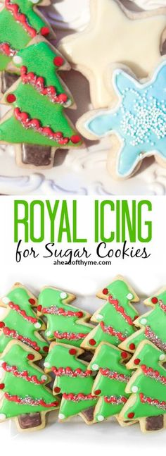 Its that time of year again and one of my favourite holiday traditions is baking and decorating sugar cookies with royal icing via aheadofthyme Halloween Desserts, Thanksgiving Desserts, Holiday Baking, Christmas Desserts, Christmas Treats, Christmas Holidays, Christmas Crack, Christmas Foods, Christmas Sugar Cookies