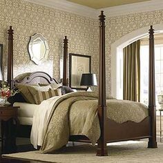 Queen High Poster Bed