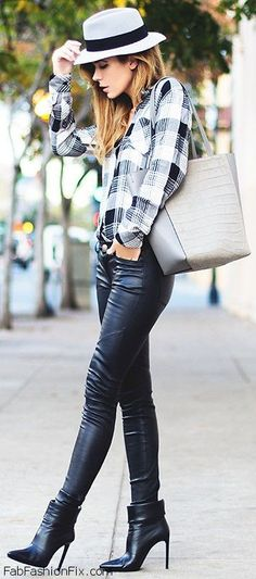 Leather pants... Fashion outfits Spring!