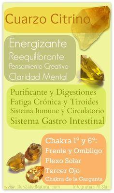 El Cuarzo Citrino - Club Salud Natural #minerales #gemas #chakras