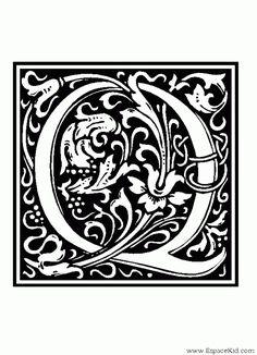 Coloriage Lettre Q : coloriages Lettrine