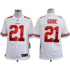 43bf78a44 ... inexpensive nike mens san francisco 49ers frank gore jersey 21 game  team color white 87775 ff683