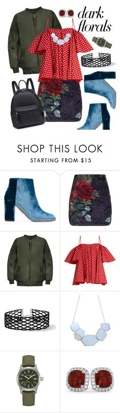 """Dark Florals"" by shea-bear-designs ❤ liked on Polyvore featuring Aquazzura, WearAll, Anna October, Miss Selfridge, Hamilton and Allurez"