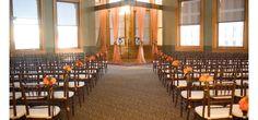 Orange and brown fall wedding