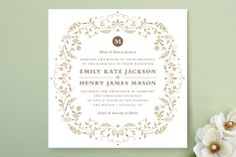 Jasmine Bloom Wedding Invitations