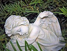 Angel, Pequeña Figura, Querubín, Gris Blanco, Mentira