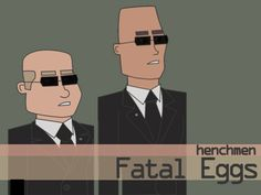 "Henchmen. Character design for ""Fatal Eggs"", my new cartoon series"