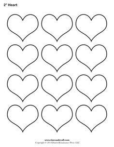Geometric Shape Templates Archives - Page 3 of 4 - Tim's Printables Printable Heart Template, Heart Shapes Template, Valentine Template, Printable Shapes, Shape Templates, Applique Templates, Printable Hearts, Free Printable, Owl Templates