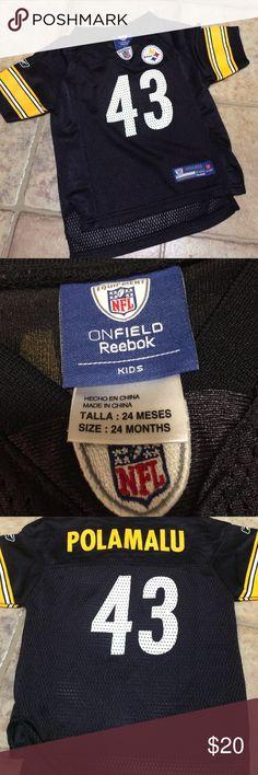 Reebox NFL Onfield kids Steelers jersey size 24 mo Great shape Shirts & Tops