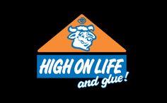 HIGH ON LIFE (AND GLUE) T-SHIRT, tshirthell.com
