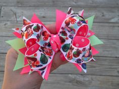 Toy Story Bow Toddler Size Jesse Bows by ransomletterhandmade, $10.00