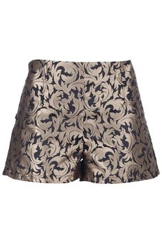 """Zippered """"Leaves"""" Black Shorts. Description Black shorts, featuring waistband design, side zipper, contrasting leaves print throughout, a dacron lining. Fabric Cotton and Dacron. Washing 40 degree machine wash , low iron. #Romwe"""