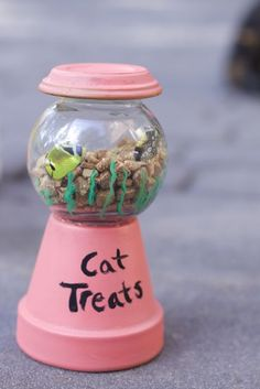 diy cat treat holder, crafts, how to, painting, pets, pets animals, repurposing upcycling