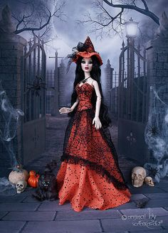 a Wilde Imagination doll - Yahoo Groups Witch Costumes, Halloween Costumes, Barbie Halloween, Fashion Dolls, Barbie Dolls, Imagination, Dresses, Vestidos, Halloween Costumes Uk