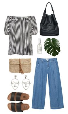 """""""Untitled #553"""" by the59thstreetbridge ❤ liked on Polyvore featuring MDS Stripes, MANGO, christopher. kon, Hat Attack and Billabong"""