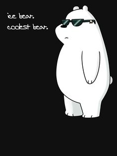 ice bear, coolest bear by Any We Bare Bears merch honestly but I love Ice Bear the most ❄️🐼🐻 Cute Panda Wallpaper, Bear Wallpaper, Cute Disney Wallpaper, We Bare Bears Wallpapers, Panda Wallpapers, Cute Wallpapers, Ice Bear We Bare Bears, 3 Bears, Really Cool Photos