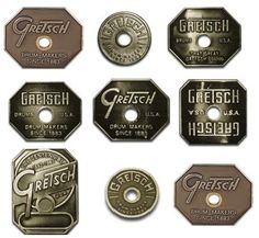 gretsch drum badges