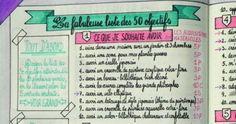 La fabuleuse liste des 50 objectifs