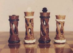 Hollow twisted Chess pieces