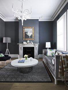 Clarke & Payne House, Greg Natale - Jonathan Adler, grey, navy, white