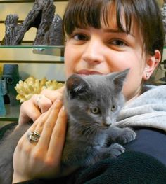 Azemina and the Kitten — a purrfect match made at The Animal Store. #WordlessWednesday #pets