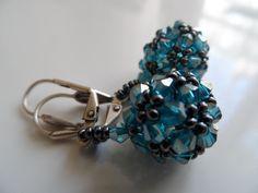 bicon ball earrings Beading Projects, Beads, Bracelets, Earrings, Leather, Jewelry, Fashion, Beading, Ear Rings