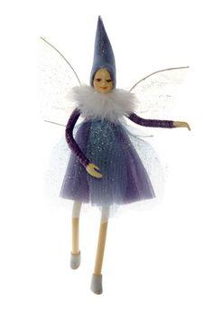 Bendable Petal Fairies Winter Fairy Purple