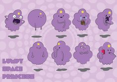 Adventure Time Lumpy Space Princess | LSP (Lumpy Space Princess) Vector Illustrations – Adventure Time ...