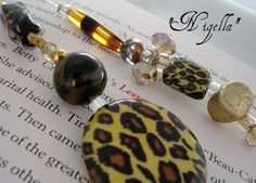 Designer Beaded Bookmark  Nigella by SassyBookBling on Etsy, $19.00