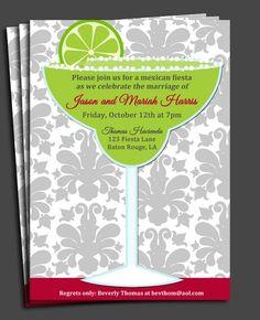 Margarita Mexican Fiesta Invitation Printable