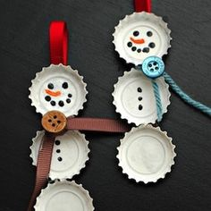 We seem to have an unlimited supply of bottle caps!  These are cute AND recycled!