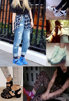 How to wear JuJu jelly shoes inspiration #JellyShoesOutfit