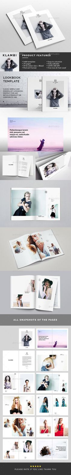Fashion Lookbook Template — InDesign INDD #trendy #print • Available here → https://graphicriver.net/item/fashion-lookbook-template/10486087?ref=pxcr