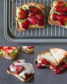 Avocado, Strawberry  Goat Cheese Sandwich | 29 Super-Easy Avocado Recipes