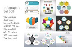 Infographic Set 8 by h.utomo on @creativemarket