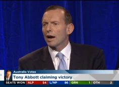 Australia (almost) has a new Prime Minister: Tony Abbott Australian Politics, Tony Abbott, Community Manager, Prime Minister, Abc News, News Online, Victorious, Dutch