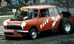 """A Twitter friend sent me this next Sunday Screamer last week with the headline saying """"Bet you've never seen a Mini do this before"""" and he was right! A Mini Tractor Pull Racer! It's mad as a box of frogs and so frickin cool too but... I can't find out any more about these beasts and sadly this pic is the sum of Richards knowledge, he can't even recall where the pic came from but he knew I'd dig it! So over over to you guys, anyone know more about these rare Mini racers???"""