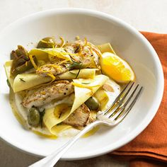 Lemon Chicken with Olives and Ricotta