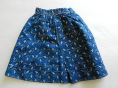 early doll calico skirt..love the blue calico's