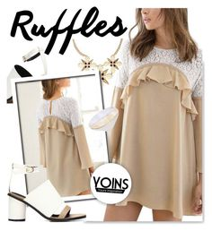 """""""Ruffled Dresses at Yoins.com"""" by serepunky ❤ liked on Polyvore"""